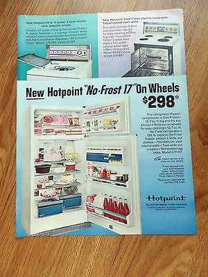 1967 Hotpoint Refrigerator Washer & Electric Range Appliance Ad