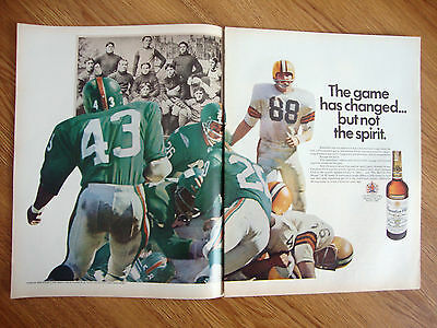 1969 Canadian Club Whiskey Ad  Football Theme Game Has Changed not Spirit