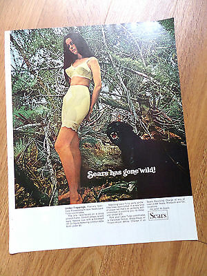 1969 Sears Bra Girdle Ad   Sears has gone Wild!   Under-Trappings