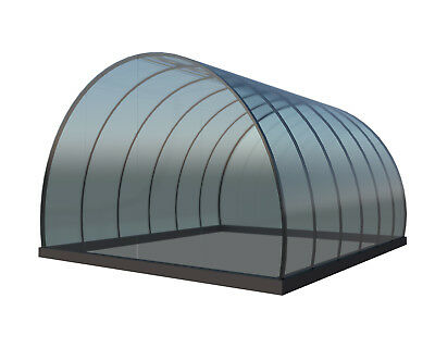 PVC Greenhouse Plans DIY Hoop House Grow Veggies Plants 10'x12' Build Your Own