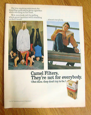 1971 Camel Filters Cigarette Ad For True Smoking Enjoyment the Great Yogi