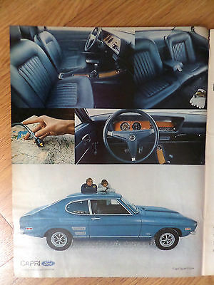 1971 Mercury Capri Sport Coupe Ad The Import Car of the Year