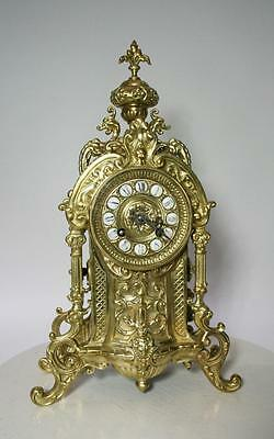French Clock Bronze  Neo Gothic 1880 Rich Ornamented Ad Mougin