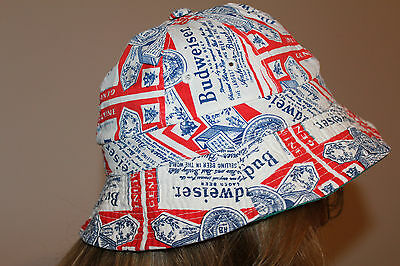 Vintage BUDWEISER Gilligan's Style BUCKET HAT CAP ** 1980's Small RARE / L@@K