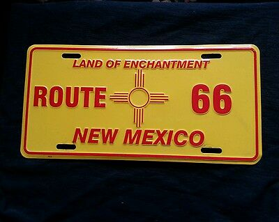 ROUTE 66,NEW MEXICO ZIA VEHICLE PLATE -  Vintage