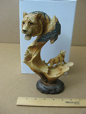 Tiger Wooden Statue Carving
