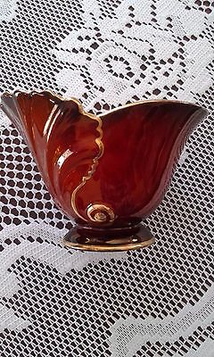 Carlton Ware Rouge Royale vase shell design