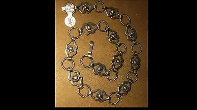 1940s STERLING SILVER necklace TAXCO MEXICO 980S MEXICAN CHUNKY BOLD Vintage 50g