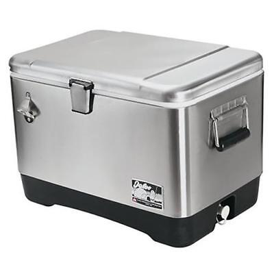 54 Qt Stainless Steel Cooler Ice Chest Bottle Opener Party Picnic