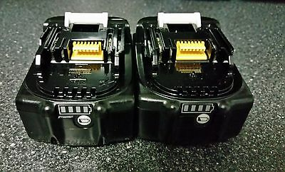 2 x MAKITA BL1850B 5.0AH 18V LXT LI-ION BATTERY WITH BATTERY INDICATOR  BL1850