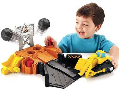 NEW Fisher Price Pretend Play Toy Big Action Boulder Blast Quarry & Bulldozer