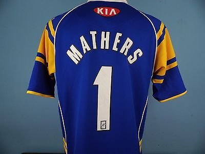 Authentic Leeds Rhinos 2005 Rugby Home Shirt Size Medium 1 Mathers Signed
