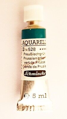 Schmincke 5Ml Watercolour Tube Prussian Green Series 2 Artist Quality