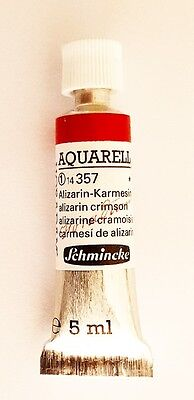 Schmincke 5Ml Watercolour Tube Alizarin Crimson Series 1 Artist Quality