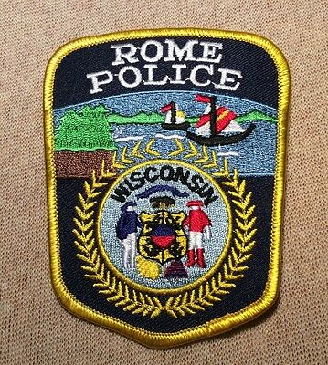 WI Rome Wisconsin Police Patch