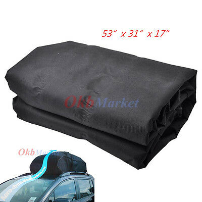 15Cubic Ft Waterproof Rooftop Cargo Carrier Roof Rack Bundle Bag for Car Van SUV