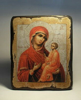 Handmade copy ancient ORTHODOX CHURCH ICON Mother of God of Tikhvin 96M