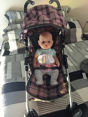 Gorgeous Zapf Baby Born Girl Doll, And Loads Accessories + Stroller & Horse