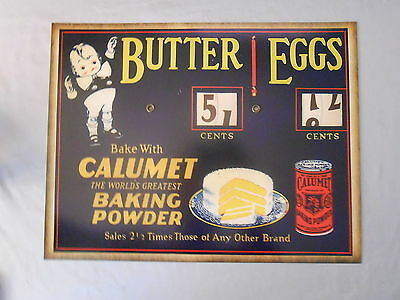"""CALUMENT BAKING POWDER BRAND BUTTER EGGS AD POSTER WITH 11"""" x 14"""""""