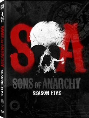 Sons of Anarchy: The Fifth Season 5 Five (DVD, 2013, 4-Disc) Brand New & Sealed!
