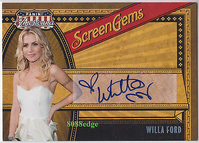 2011 Panini Americana Auto: Willa Ford #54/99 Autograph Playboy/friday The 13Th