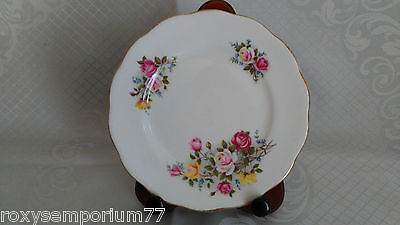 """Rare Vintage Queen Anne """"country Gardens"""" Teaplate Side Plate Roses"""