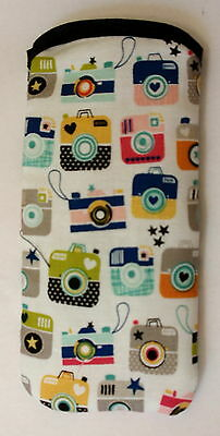 Cameras All Over Cotton Glasses Case. Ideal Small Gift