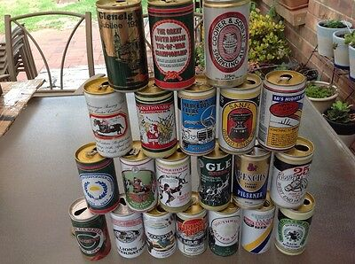 Vintage beer can collection