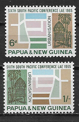 Papua & New Guinea , 1965 , 6Th So. Pacific Conf , Set Of 2  Stamps ,  Perf, Mnh