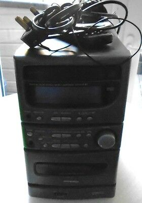Denon Personal Audio System/Micro Component System D-B3 with out speakers Workin