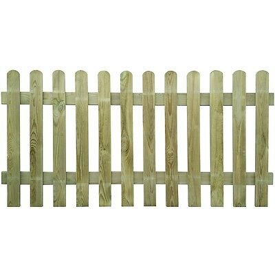 New Picket Fence 200x100 cm Wood Garden Wooden Fence Panels Lawn Border Fencing