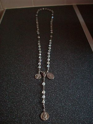 Unusual Crystal Vintage Rosary With Catacombs Medallion And Others