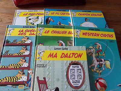VEND 7 albums petits formats Lucky Luke