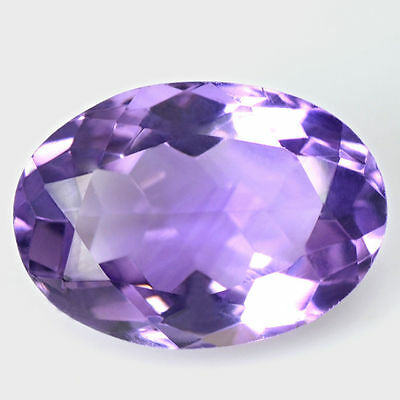 6.27 Cts Natural Top Purple Oval Cut Amethyst 14x10 mm Brazil Loose Gemstone $