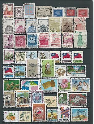 Taiwan: useful selection of FU stamps - lot 2