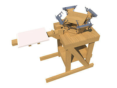 Build your own 4 color silk screening press (DIY Plans) Fun to build,Save Money