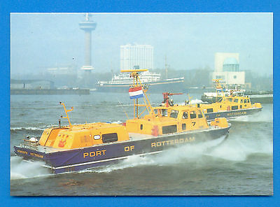 Hm2 Sidewall Hovercraft.fire And Rescue Port Of Rotterdam.postcard