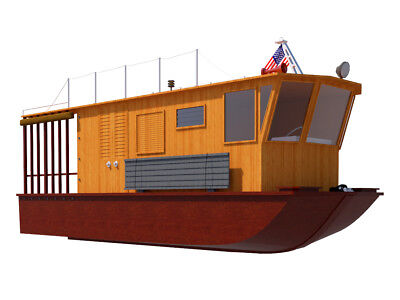 Build your own 21' houseboat (DIY Plans) Fun to build!!