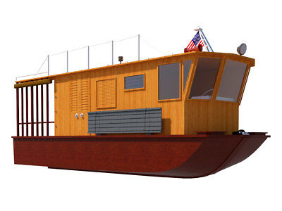 Houseboat Plans 21 Diy Pontoon House Boat Building Plan Build Your