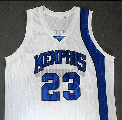new arrivals c8e50 2798e DERRICK ROSE MEMPHIS Tigers White Basketball Jersey Gift Any Size