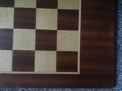 Wooden Marquetry Chess & Backgammon Board With Storage Base