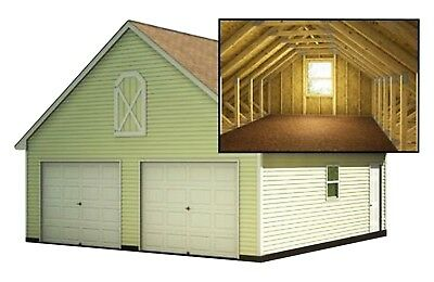 Build a 24 39 x 24 39 garage with loft diy plans fun to for A frame garage with loft