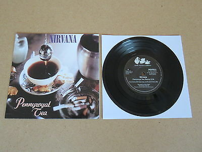 """NIRVANA Pennyroyal Tea / I Hate Myself And Want To Die 7"""" RARE NIRVPRO-3 ISSUE"""