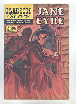 Classics Illustrated #39 HRN 142 FN+ New Cover Art Jane Eyre by Charlotte Bronte