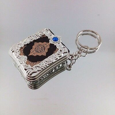 Resin Islamic Key Chain Mini Ark Quran Book Material Key Ring Car Bag Chram Gift