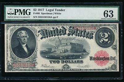 AC Fr 60 1917 $2 Legal Tender PMG 63 comment