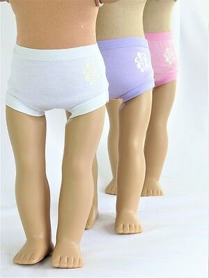 """3 pair doll underwear Fits 18"""" American Girl Doll Clothes"""