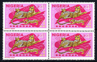 Nigeria 1965-66 SG177a 4d. Multicoloured - Mint Blk of 4 stamps