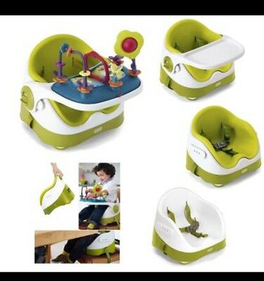 Mamas and Papas Baby Bud Booster with Activity Tray in Green