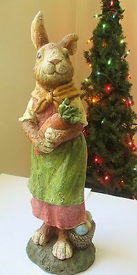 """NWT Bethany Lowe Designs """"Mother Rabbit with Basket"""" - Cute!"""